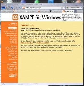 XAMPP Startseite