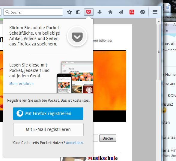 Firefox38.0.5Pocket