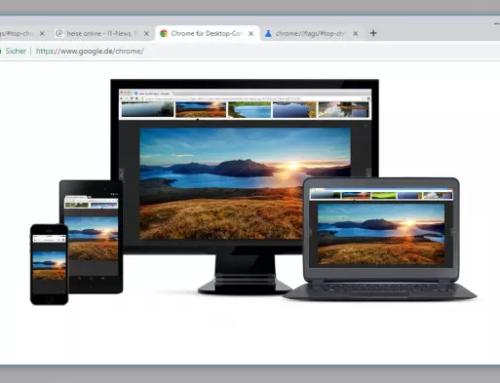 Das neue Chrome-Design wird runder