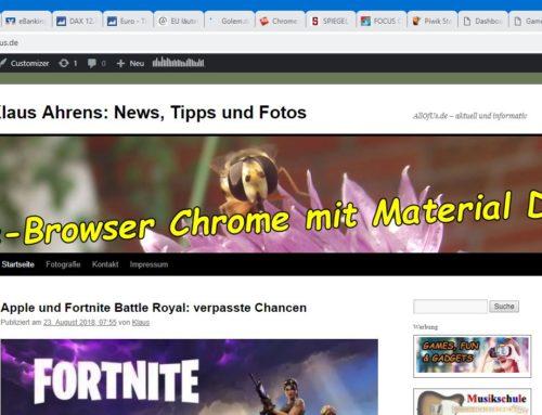 "Das ""Material Design"" von Chrome 69"