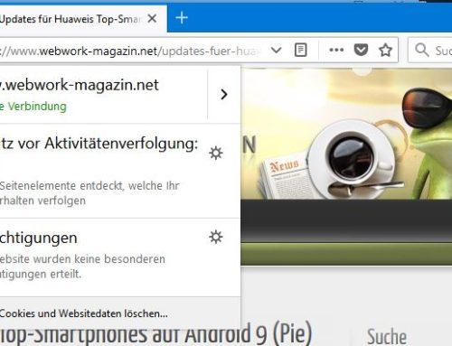 Firefox 62 mit einfacherem Tracking-Schutz