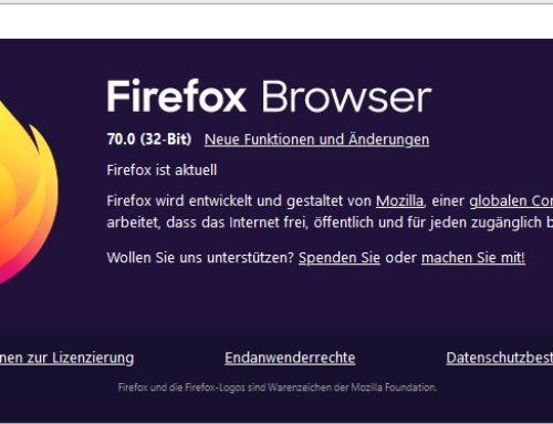Firefox 70 hat Probleme mit dynamischem JavaScript