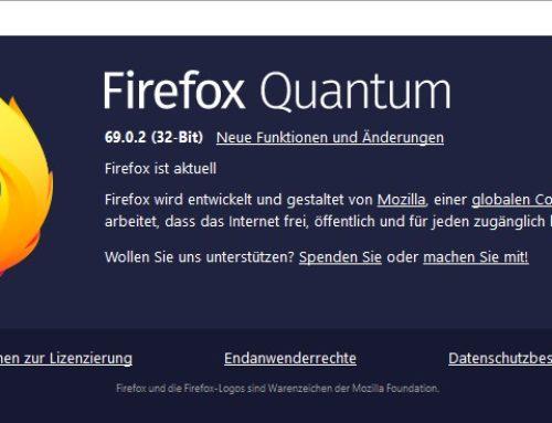 Mozilla hat Browser Firefox 69.0.2 veröffentlicht