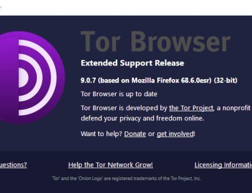 JavaScript beim Tor-Browser 9.0.7 deaktiviert