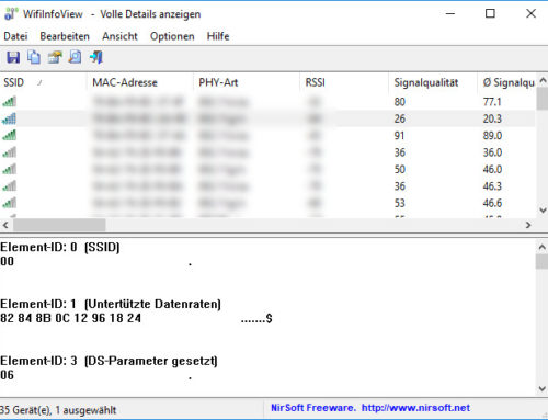 Hilfreiches WLAN-Tool: WifiInfoView