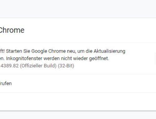 Sicherheitsupdate gegen Angriffe auf Google Chrome